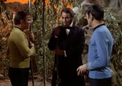 Captain Kirk and Mr. Spock meet Abraham Lincoln