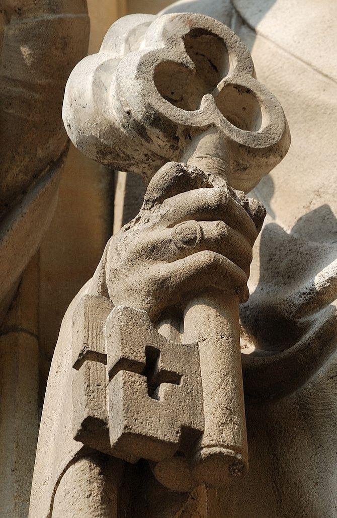 Deutsch: Münster, Petrus-Skulptur, Überwasserk...